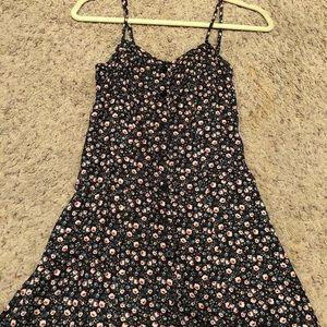 H&M floral button down dress